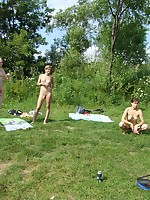 Naked people having loads of fun