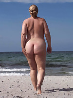 Naked moms and grannies at nudist beach - Chubby Naturists