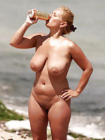 Pure mature naturists on a nudist beach - Chubby Naturists