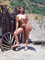 Mature nudist plumpers posing completely nude - Chubby Naturists
