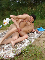 Things get really heated up quickly as a threesome happens right on the beach for everyone to see