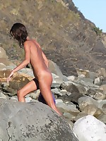 Cute teen naked at the nude beach