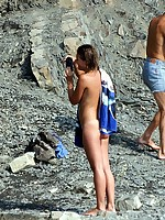 Nice day with hot girls at the nude beach