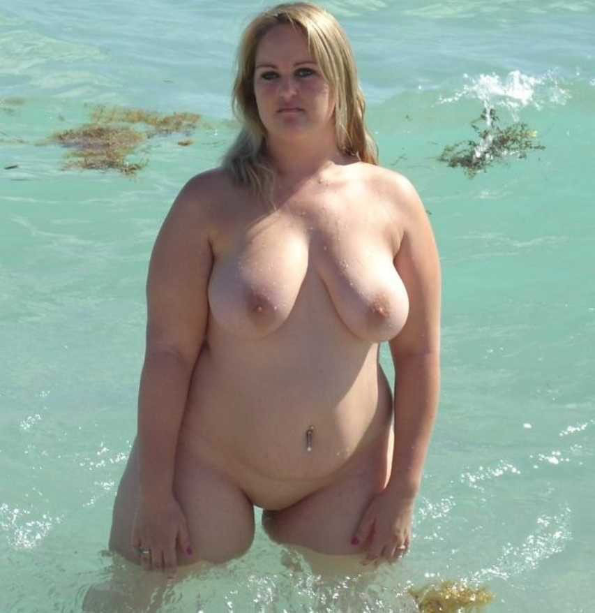 chubby on the beach naked