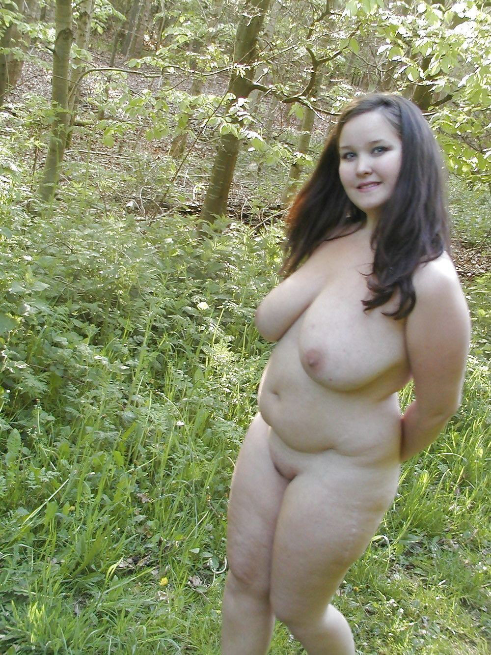 Forest in naked bbw