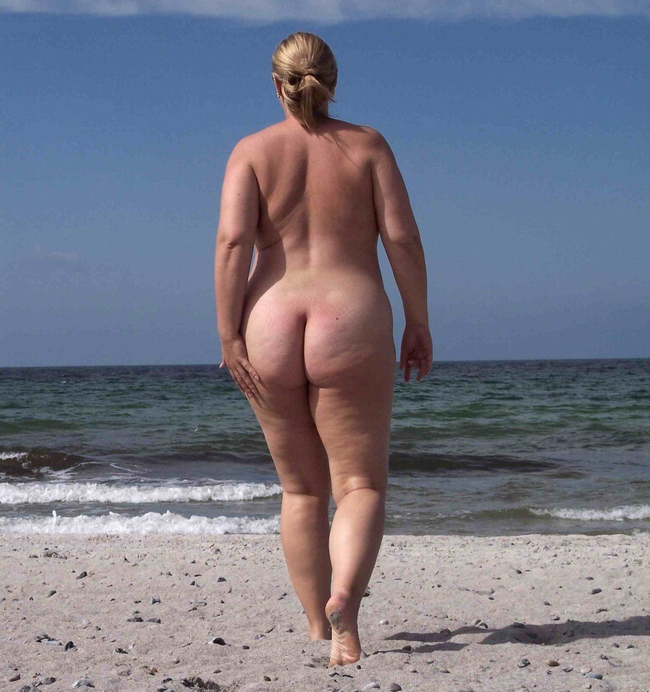 Opinion you Fat granny nude beach